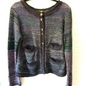 FREE PEOPLE | Purple Cardigan Sweater Size Medium
